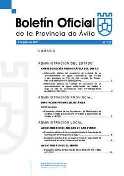 Boletín Oficial de la Provincia del lunes, 5 de julio de 2021