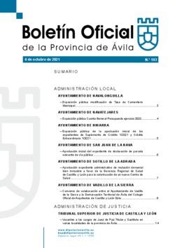 Boletín Oficial de la Provincia del miércoles, 6 de octubre de 2021