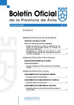 Boletín Oficial de la Provincia del jueves, 7 de enero de 2021