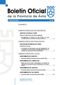 Boletín Oficial de la Provincia del miércoles, 7 de abril de 2021