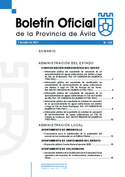 Boletín Oficial de la Provincia del miércoles, 7 de julio de 2021