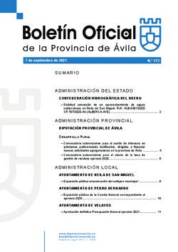 Boletín Oficial de la Provincia del martes, 7 de septiembre de 2021