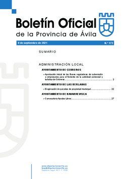 Boletín Oficial de la Provincia del miércoles, 8 de septiembre de 2021
