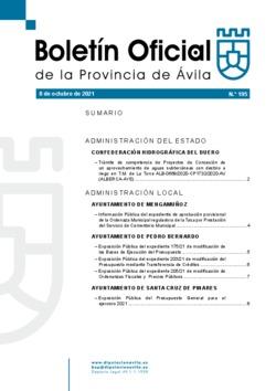 Boletín Oficial de la Provincia del viernes, 8 de octubre de 2021