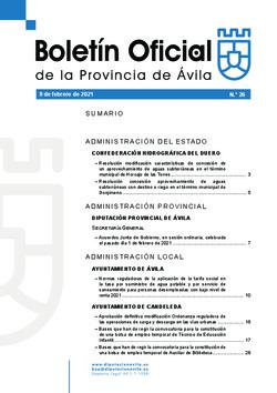 Boletín Oficial de la Provincia del martes, 9 de febrero de 2021