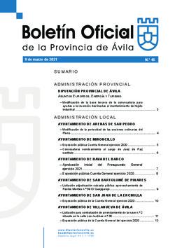 Boletín Oficial de la Provincia del martes, 9 de marzo de 2021