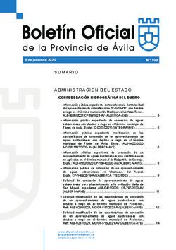 Boletín Oficial de la Provincia del miércoles, 9 de junio de 2021