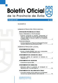 Boletín Oficial de la Provincia del viernes, 9 de julio de 2021