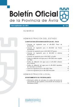 Boletín Oficial de la Provincia del jueves, 9 de septiembre de 2021