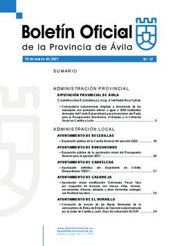 Boletín Oficial de la Provincia del miércoles, 10 de marzo de 2021