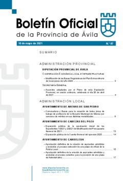 Boletín Oficial de la Provincia del lunes, 10 de mayo de 2021