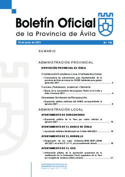 Boletín Oficial de la Provincia del jueves, 10 de junio de 2021