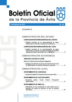 Boletín Oficial de la Provincia del jueves, 11 de febrero de 2021