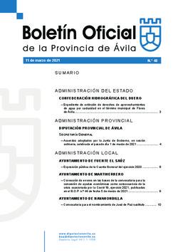 Boletín Oficial de la Provincia del jueves, 11 de marzo de 2021