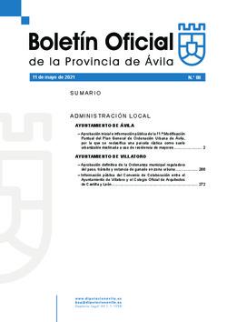 Boletín Oficial de la Provincia del martes, 11 de mayo de 2021