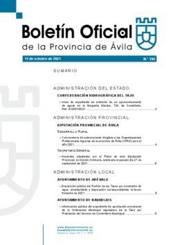Boletín Oficial de la Provincia del lunes, 11 de octubre de 2021