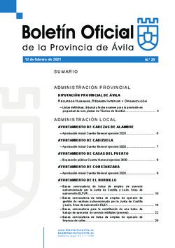Boletín Oficial de la Provincia del viernes, 12 de febrero de 2021