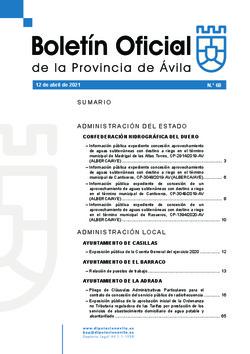 Boletín Oficial de la Provincia del lunes, 12 de abril de 2021