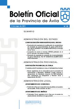 Boletín Oficial de la Provincia del miércoles, 12 de mayo de 2021