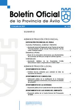 Boletín Oficial de la Provincia del lunes, 12 de julio de 2021