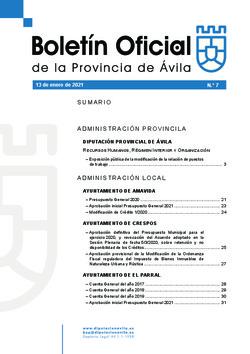 Boletín Oficial de la Provincia del miércoles, 13 de enero de 2021