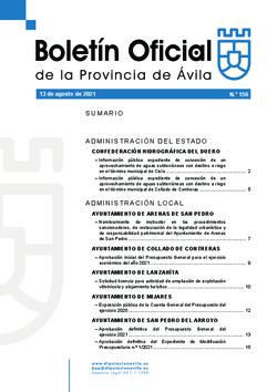 Boletín Oficial de la Provincia del viernes, 13 de agosto de 2021