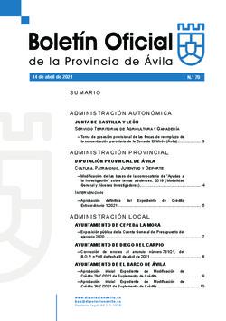 Boletín Oficial de la Provincia del miércoles, 14 de abril de 2021