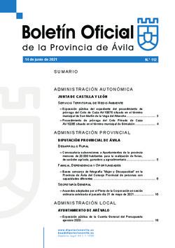 Boletín Oficial de la Provincia del lunes, 14 de junio de 2021