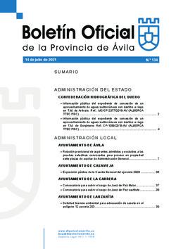 Boletín Oficial de la Provincia del miércoles, 14 de julio de 2021