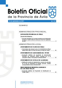 Boletín Oficial de la Provincia del martes, 14 de septiembre de 2021