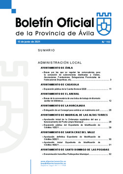 Boletín Oficial de la Provincia del martes, 15 de junio de 2021