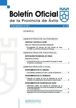 Boletín Oficial de la Provincia del miércoles, 15 de septiembre de 2021