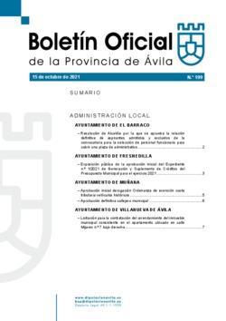 Boletín Oficial de la Provincia del viernes, 15 de octubre de 2021