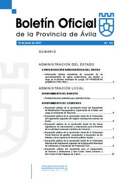 Boletín Oficial de la Provincia del miércoles, 16 de junio de 2021