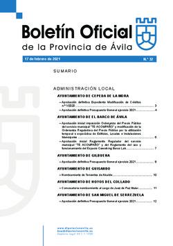 Boletín Oficial de la Provincia del miércoles, 17 de febrero de 2021