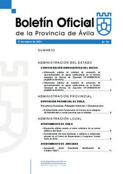 Boletín Oficial de la Provincia del miércoles, 17 de marzo de 2021