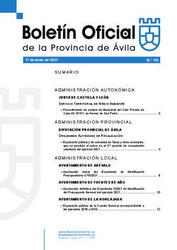 Boletín Oficial de la Provincia del jueves, 17 de junio de 2021