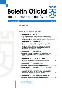 Boletín Oficial de la Provincia del jueves, 18 de marzo de 2021
