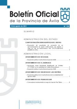 Boletín Oficial de la Provincia del miércoles, 18 de agosto de 2021