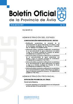 Boletín Oficial de la Provincia del lunes, 19 de abril de 2021