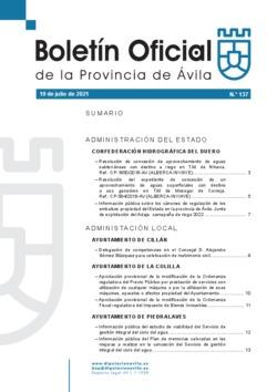 Boletín Oficial de la Provincia del lunes, 19 de julio de 2021