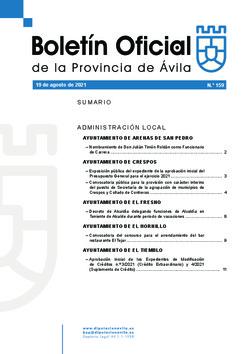 Boletín Oficial de la Provincia del jueves, 19 de agosto de 2021