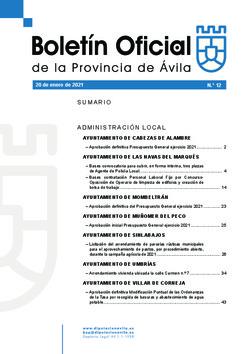 Boletín Oficial de la Provincia del miércoles, 20 de enero de 2021