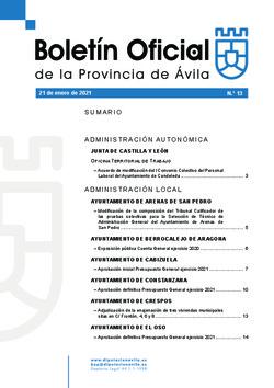 Boletín Oficial de la Provincia del jueves, 21 de enero de 2021
