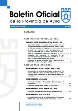 Boletín Oficial de la Provincia del lunes, 21 de junio de 2021