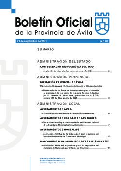 Boletín Oficial de la Provincia del martes, 21 de septiembre de 2021