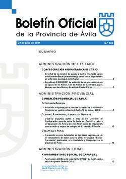 Boletín Oficial de la Provincia del jueves, 22 de julio de 2021