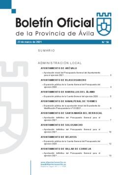 Boletín Oficial de la Provincia del martes, 23 de marzo de 2021