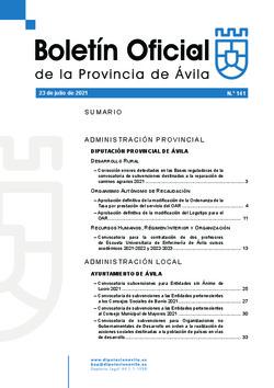 Boletín Oficial de la Provincia del viernes, 23 de julio de 2021