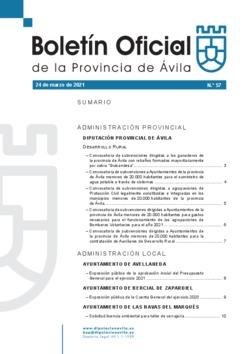 Boletín Oficial de la Provincia del miércoles, 24 de marzo de 2021